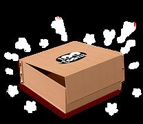 Coffret cadeau motif cartoon dans une boîte en carton recyclé