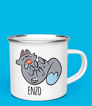 Mug métal 480 ml motif cartoon Tootoons grande contenance