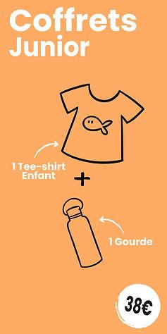 Coffret Junior : 1 Tee-shirt enfant + 1 gourde motif cartoon Tootoons