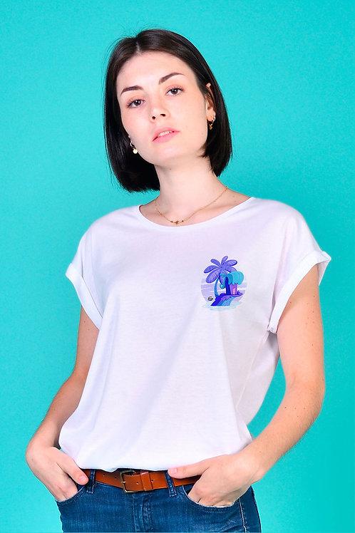 Tee-shirt Femme Tootoons, modèle Île, texte personnalisable