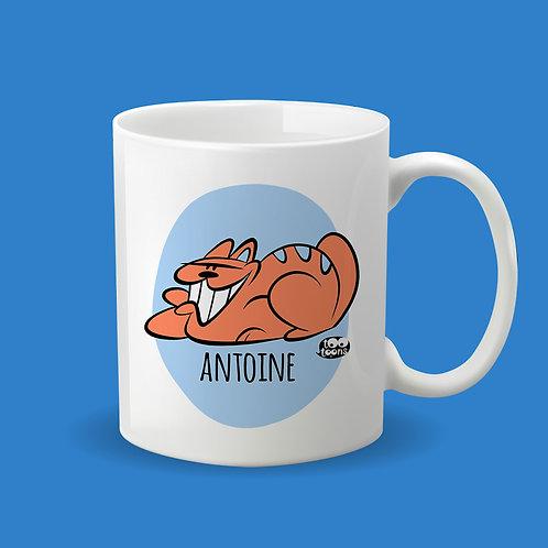 Mug Céramique cartoon Tootoons, modèle Chat souriant, texte personnalisable