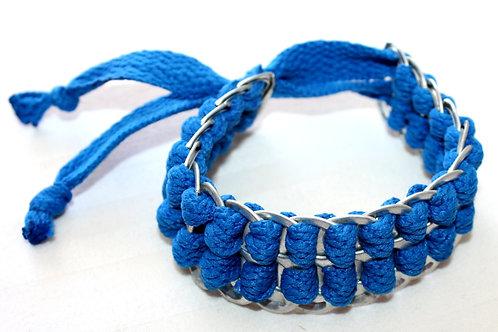 #7052 - Bracelet reclyclé cannette bleu