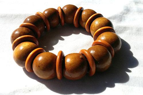 #7149 - Bracelet en bois (bois clair)