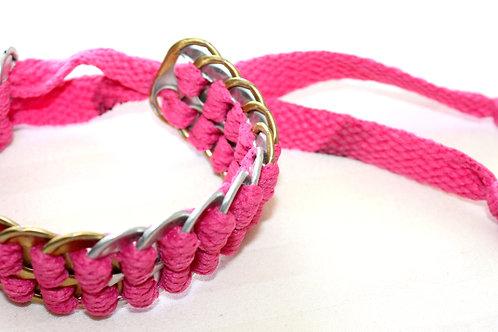 #7053 - Bracelet reclyclé cannette rose