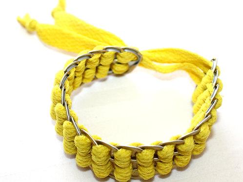 #7054 - Bracelet reclyclé cannette jaune
