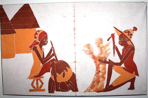 #2014 - Batique - Musiciens au village
