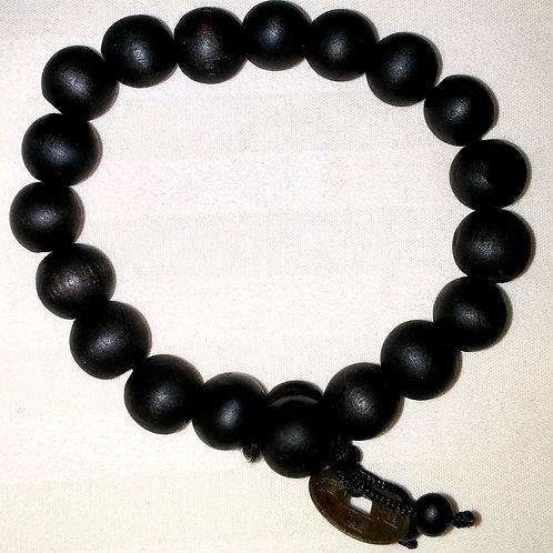 #7148 - Bracelet en bois (brun foncé)