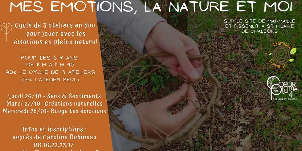 """Cycle d'ateliers """"Mes émotions, la nature et moi"""" 6-9 ans"""