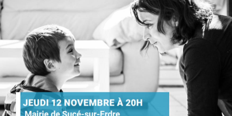 """REPORTE COVID - Conférence """"Parler pour que les tout-petits écoutent"""" Sucé sur Erdre"""