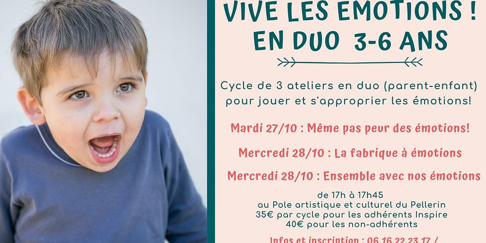 """Cycle d'ateliers en duo """"Vive les émotions"""" 3-6 ans"""