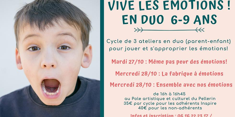 """Cycle d'ateliers en duo """"Vive les émotions"""" 6-9 ans"""