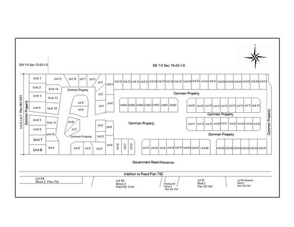 Site Plan RV Heaven template for the Web