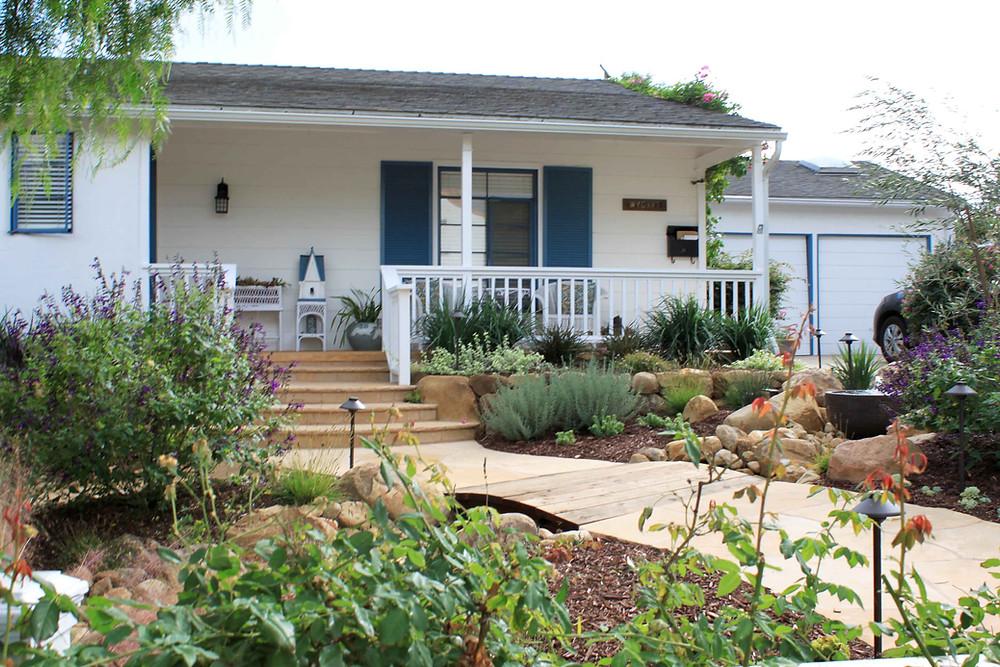 swale, rain garden, drought tolerant, los angeles, sustainable, landscape design