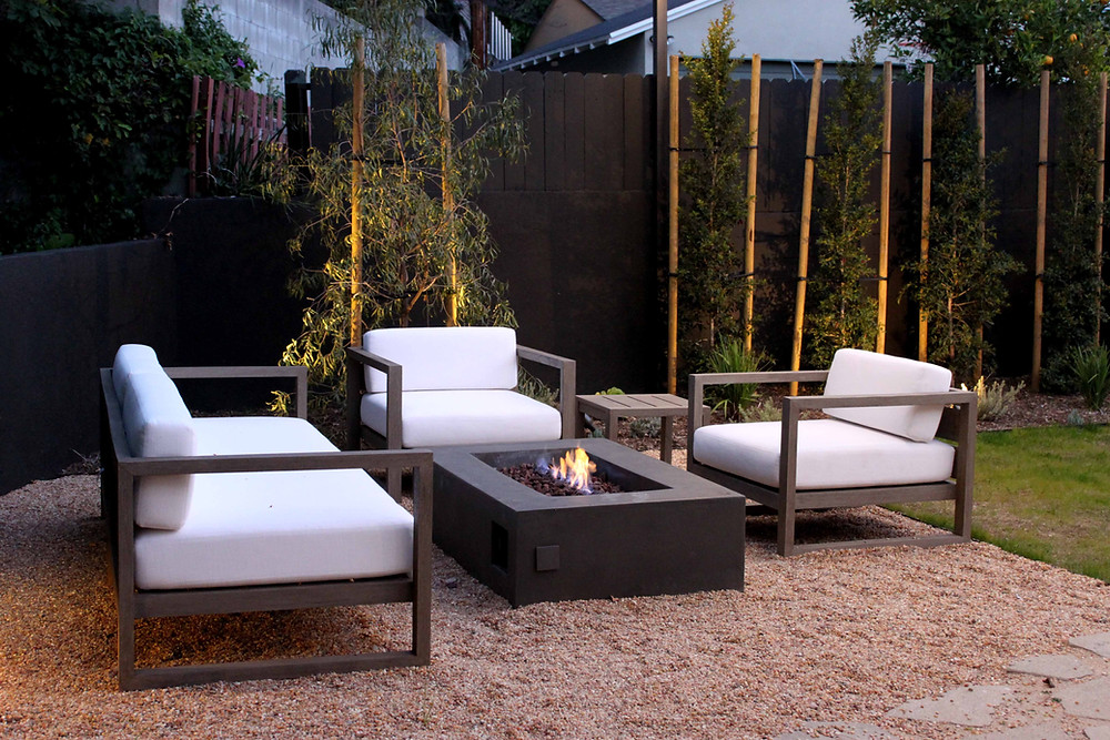 firepit, outdoor seating