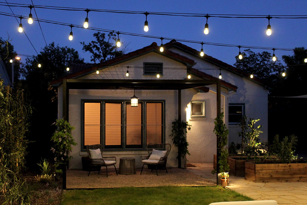 outdoor lighting, string lights