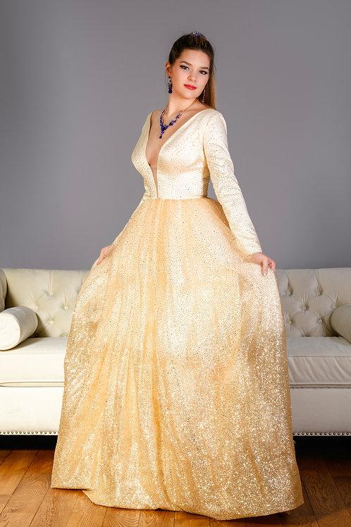 Golden Sprakle Fashion Dress