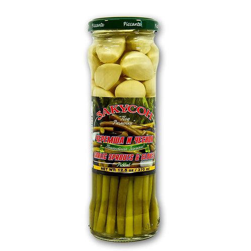 Garlic Sprouts & Gloves