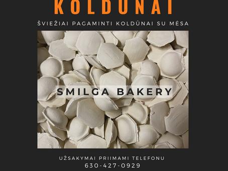 Pristatome šviežiai gaminamus Smilga Bakery koldūnus.