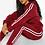 Thumbnail: Hooded Fleece Side Stripe Tracksuit