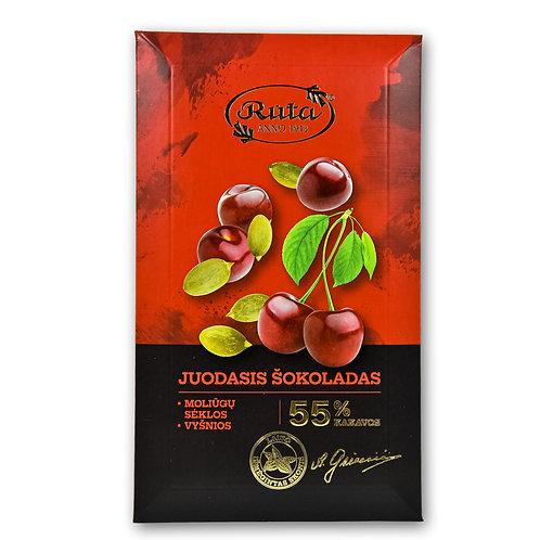 Juodasis Šokoladas su Moliūgų Sėklomis , Vyšnios