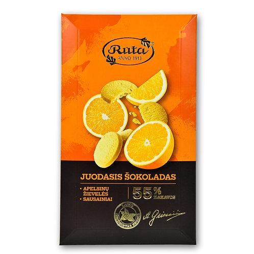 Juodasis Šokoladas - Apelsinų Žievelės, Sausainiai