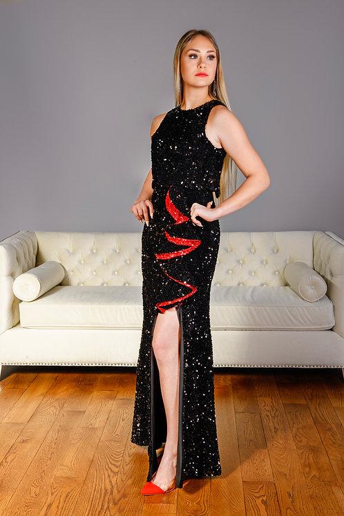 Black & Red Fashion Dress