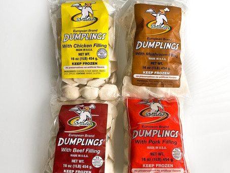 Locally made frozen dumplings