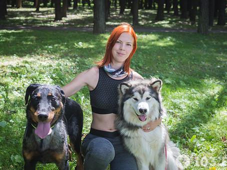 Animal-фитнес: белоруска о том, как полюбила спорт благодаря собакам