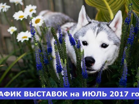 ГРАФИК ВЫСТАВОК на ИЮЛЬ 2017 года
