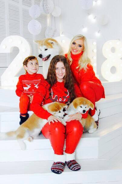 LadyIn Red & Kids