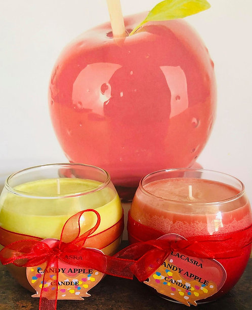Candy apple candles