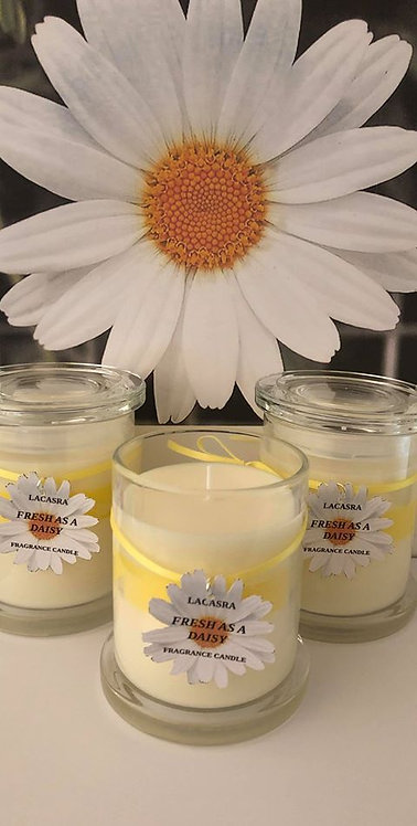 Fresh as a daisy candle