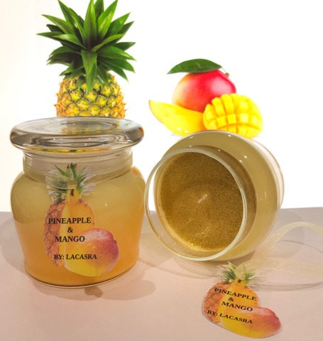 Pineapple and mango candle