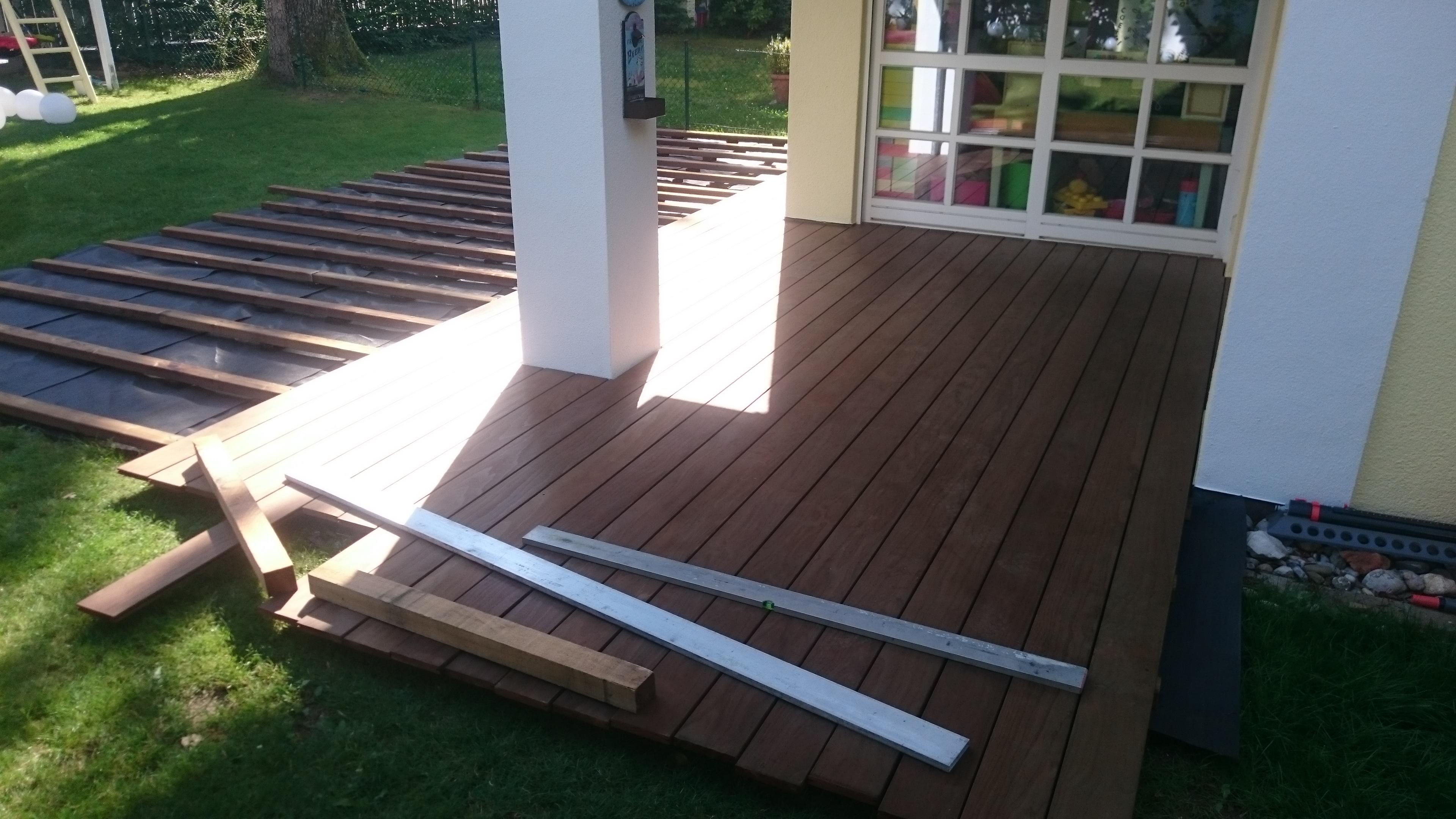 Holz-Terrasse aus Keboney