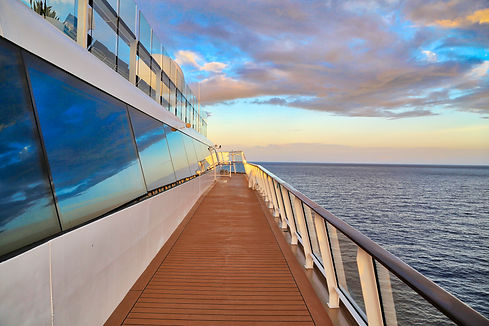 Cruise ship sailing on Caribbean vacatio