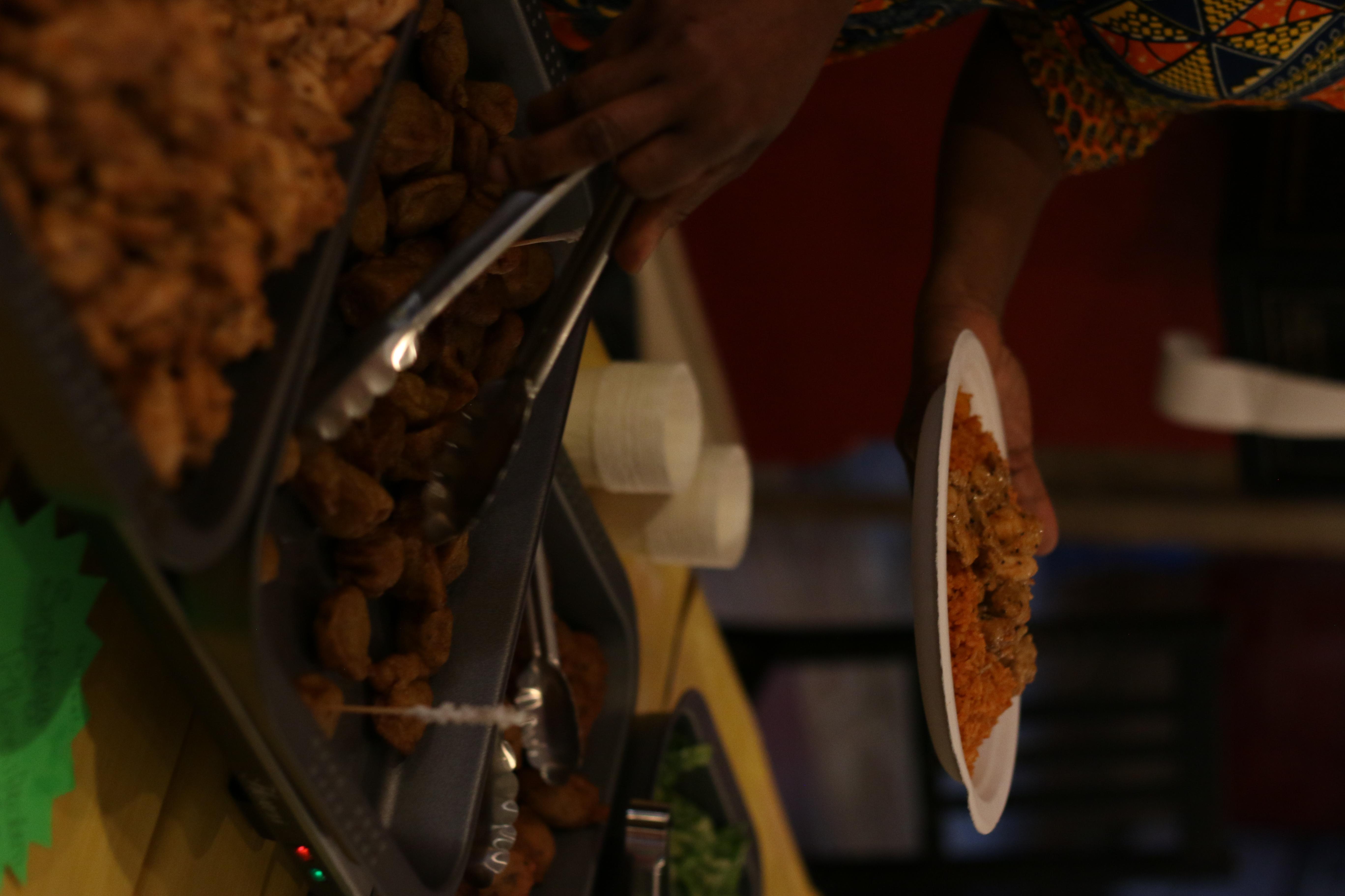 Serving plantain balls