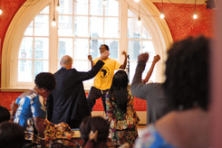 Tinkez teaches some dance moves