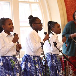 Imani Congregation Children's Choir led by Mrs Temba