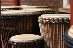 Drums in the courtyard