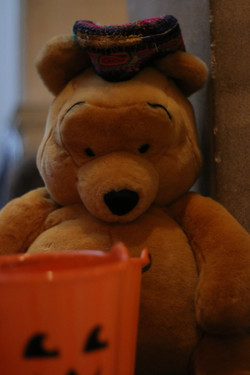 Mr Bear with African hat