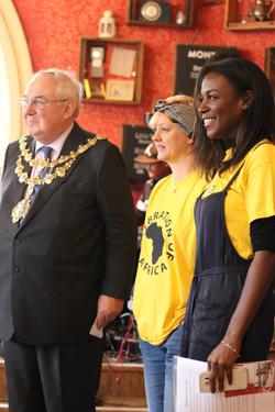 Mayor with Daria & Akylah