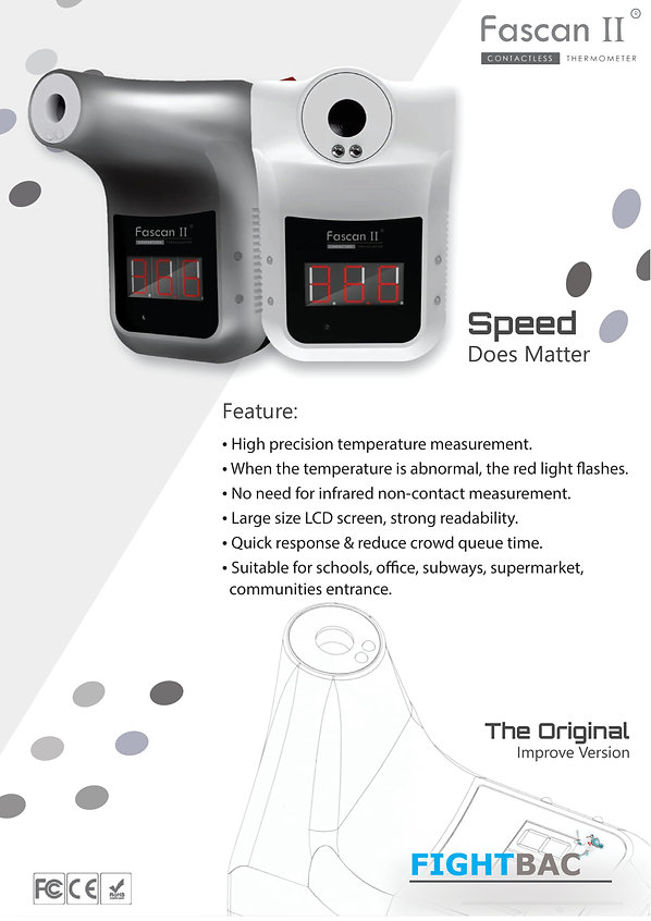 touchless thermometer and hand sanitizer