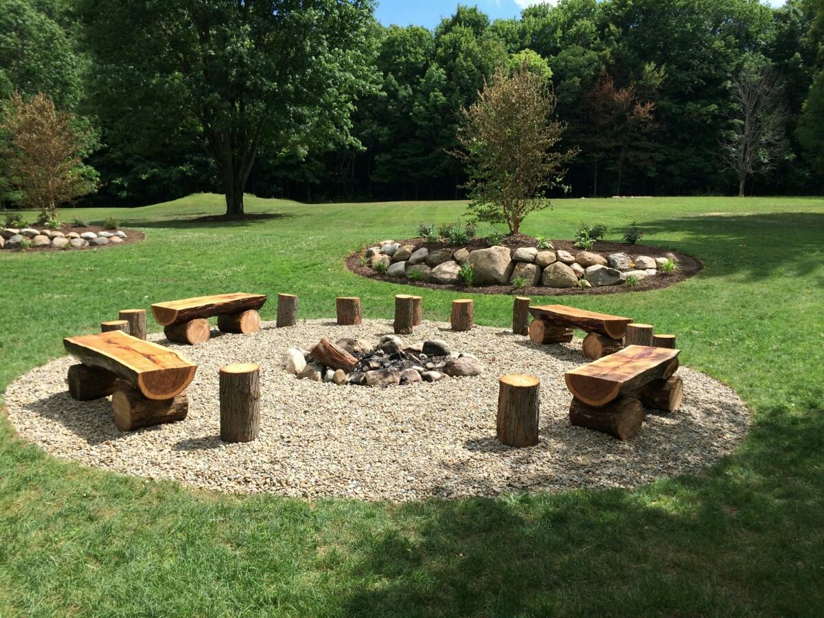 Firepit w/ repurposed logs