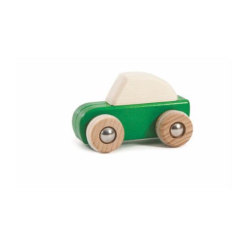 Aufziehauto aus Holz Grün