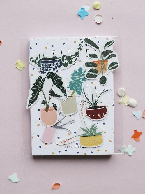 Sticker Set Pflanzen