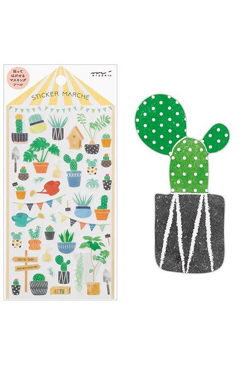 Sticker Cactus I MIDORI