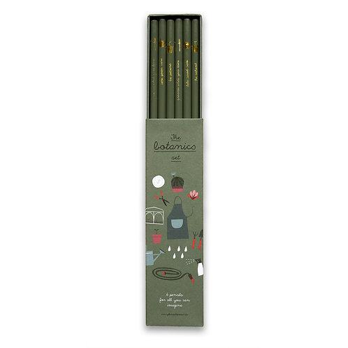 Botanisches Bleistift-Set
