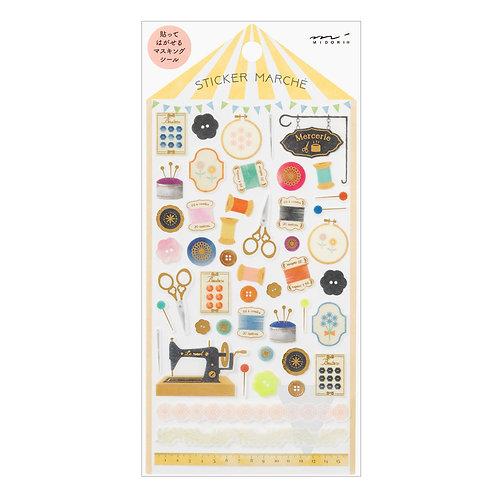 Sticker Sewing Set I MIDORI