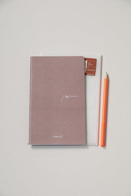 Nachfüll-Heft blanko für Notizbuch mit Knopf