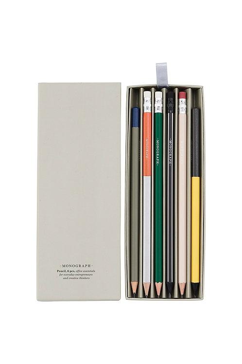 Bleistift Set bunt I MONOGRAPH